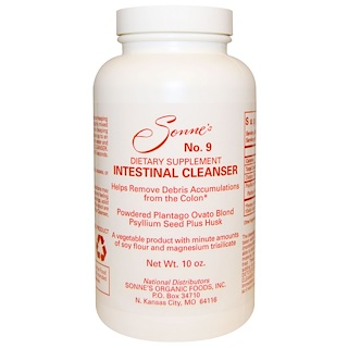 Sonne's, No. 9, Intestinal Cleanser, 10 oz