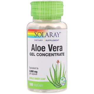 Solaray, Aloe Vera Gel Konzentrat, 100 pflanzliche Kapseln