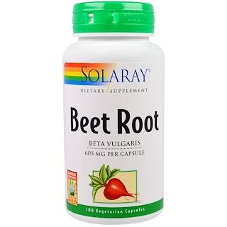 Solaray, Beet Root, 605 mg, 100 Veggie Caps