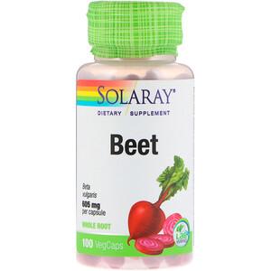 Solaray, Beet, 605 mg, 100 VegCaps