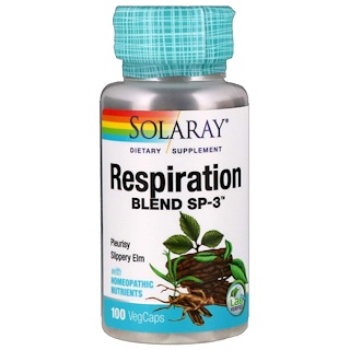 Solaray, Respiration Blend SP-3, 100 VegCaps
