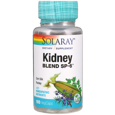 Solaray Kidney Blend SP-6, 100 растительных капсул
