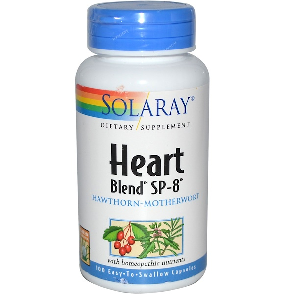 Solaray, Heart Blend SP-8, 100 Easy-To-Swallow Capsules (Discontinued Item)