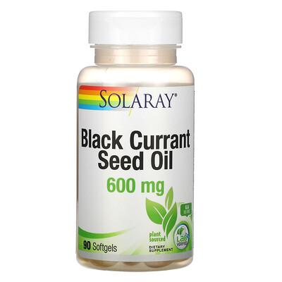 Купить Solaray Масло семян черной смородины, 600 мг, 90 мягких желатиновых капсул