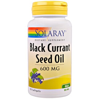 Solaray, Black Currant Seed Oil, 600 mg, 90 Softgels