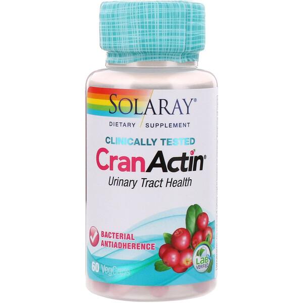 Solaray, CranActin, Urinary Tract Health, 60 VegCaps (Discontinued Item)
