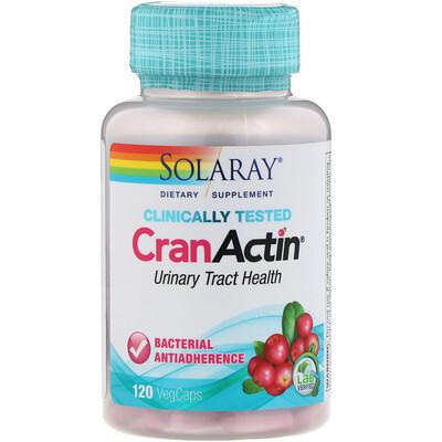 Купить Solaray CranActin, экстракт клюквы, AF, 120 вегетарианских капсул