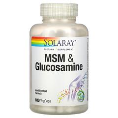 Solaray, MSM 和葡萄糖胺,180 粒素膠囊