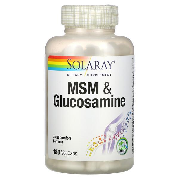 MSM 和葡萄糖胺,180 粒素胶囊