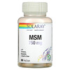 Solaray, MSM, 750 mg, 90 VegCaps