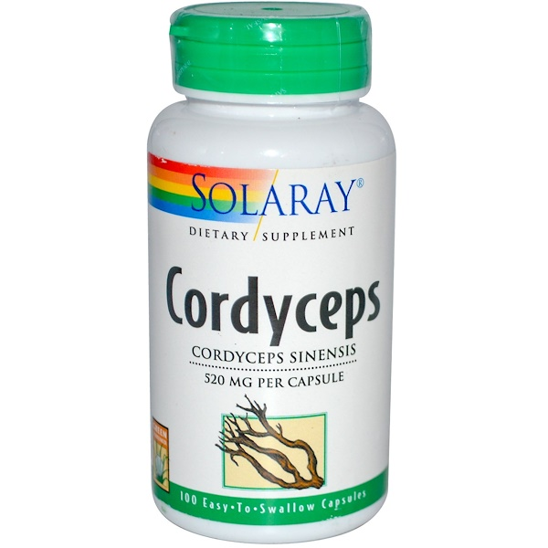 Solaray, Cordyceps, 520 mg, 100 Easy-To-Swallow Capsules (Discontinued Item)