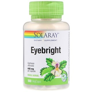 Solaray, Eyebright, 440 mg, 100 VegCaps