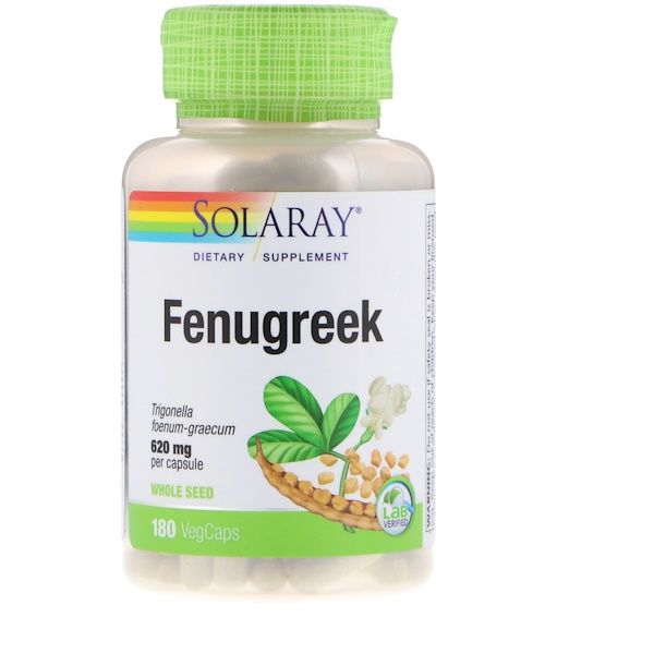 Solaray, Fenugreek, 620 mg, 180 VegCaps (Discontinued Item)