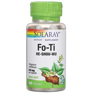 Solaray, Fo-Ti, 610 mg, 100 VegCaps