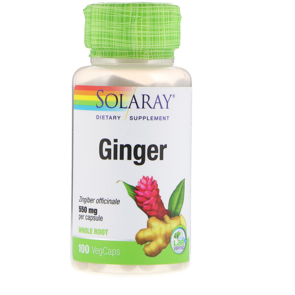 Solaray, Ginger, 550 mg, 100 VegCaps