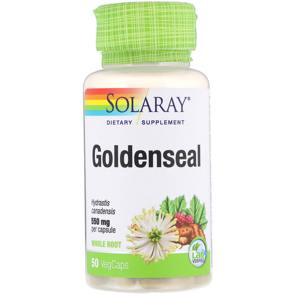 Solaray, Goldenseal, 550 mg, 50 VegCaps
