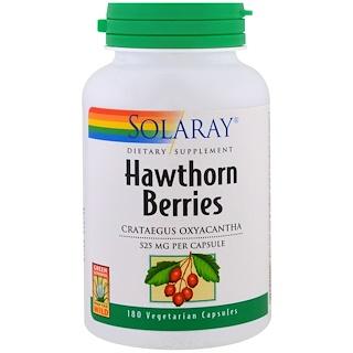 Solaray, Hawthorn Berries , 525 mg , 180 Veggie Caps