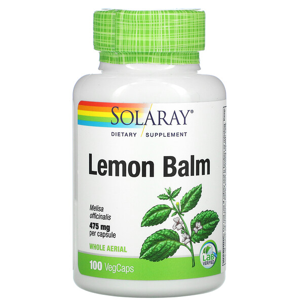 Lemon Balm, 475 mg, 100 VegCaps