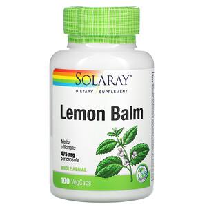 Соларай, Lemon Balm, 475 mg, 100 VegCaps отзывы покупателей