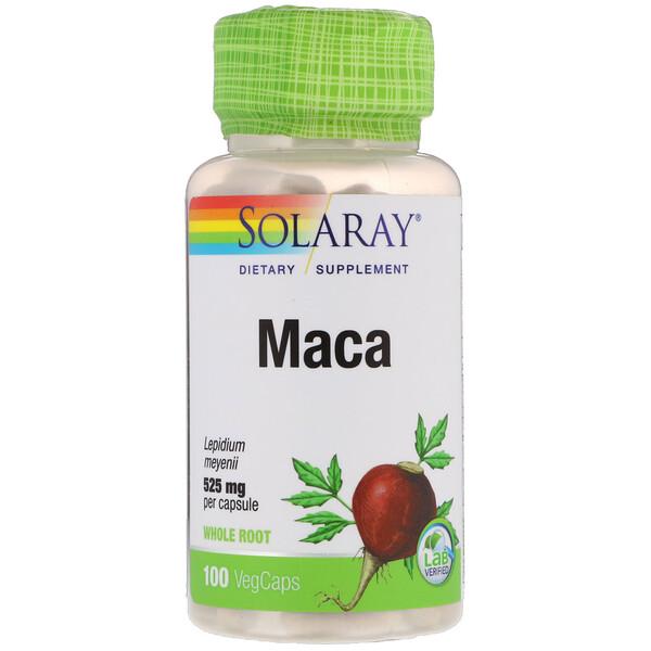 Solaray, Maca, 525 mg, 100 VegCaps (Discontinued Item)