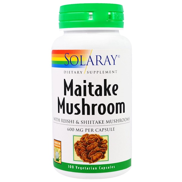 Solaray, Maitake Mushroom, 600 mg, 100 Veggie Caps