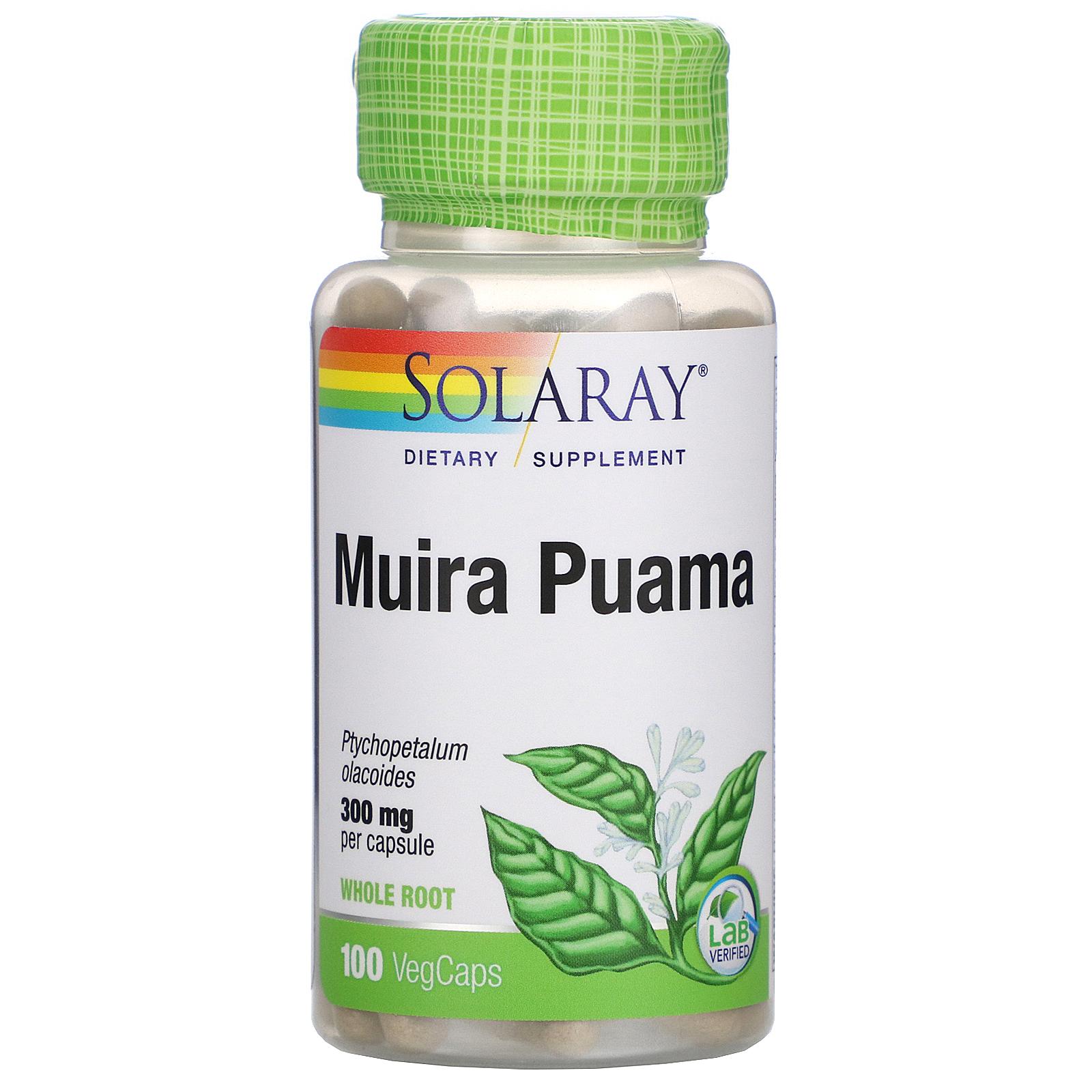 Solaray, Muira Puama, 300 mg, 100 VegCaps - iHerb