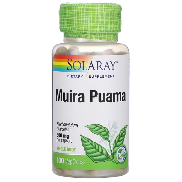 Muira Puama, 300 mg, 100 VegCaps