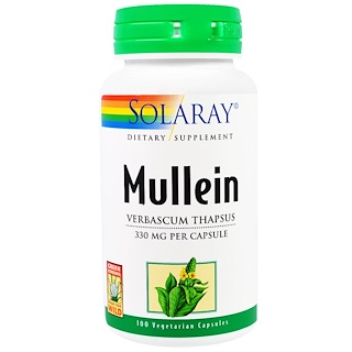 Solaray, Mullein, 330 mg, 100 Veggie Caps