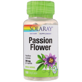 Solaray, Passion Flower, 350 mg, 100 VegCaps