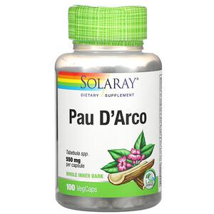 Соларай, Pau D'Arco, 550 mg, 100 VegCaps отзывы покупателей