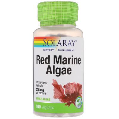 Купить Красные морские водоросли, 375 мг, 100 вегетарианских капсул