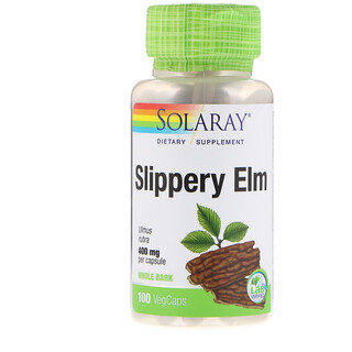 Solaray, Slippery Elm, 400 mg, 100 VegCaps