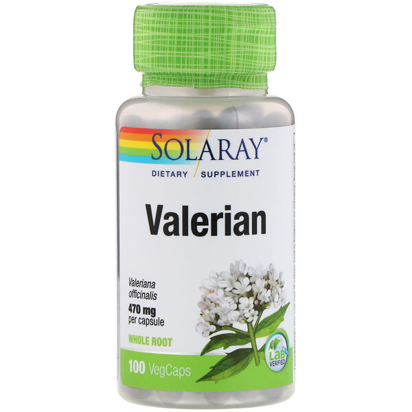 Solaray, Valerian, 470 mg, 100 VegCaps