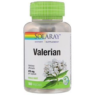 Solaray, Valerian, 470 mg, 180 VegCaps