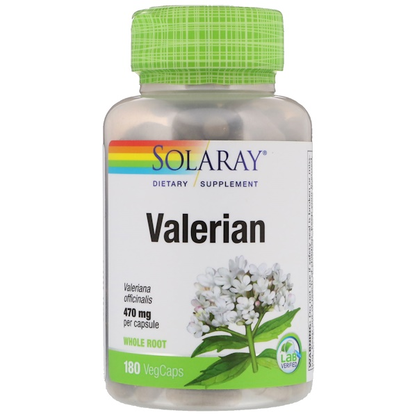 Solaray, Valerian, 470 mg, 180 VegCaps