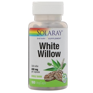 Solaray, White Willow, 400 mg, 100 VegCaps