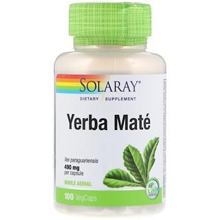 Solaray, Yerba Mate, 490 mg, 100 VegCaps