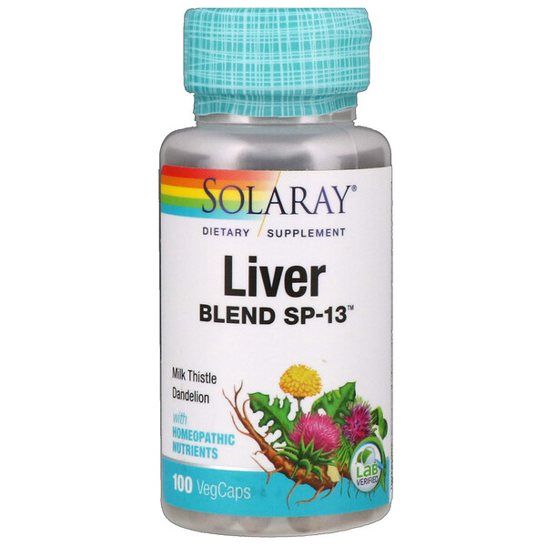 Liver Blend SP-13, 100 Easy-To-Swallow Capsules