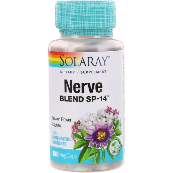 Solaray, Nerve Blend SP-14, 100 VegCaps