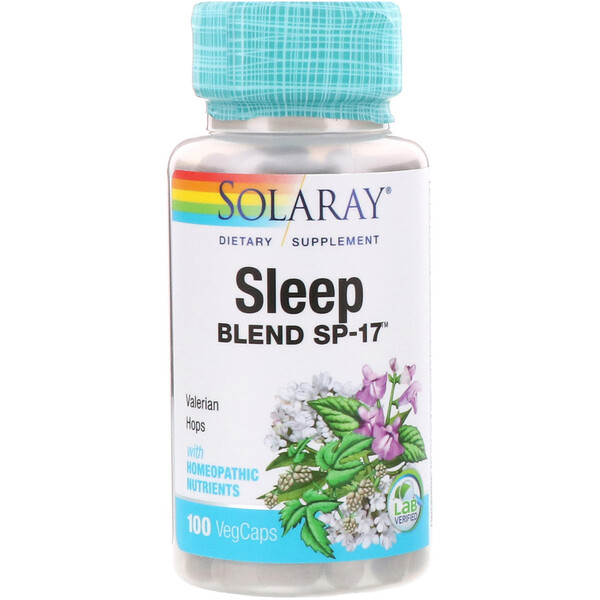 Solaray, Sleep Blend SP-17, 100 VegCaps