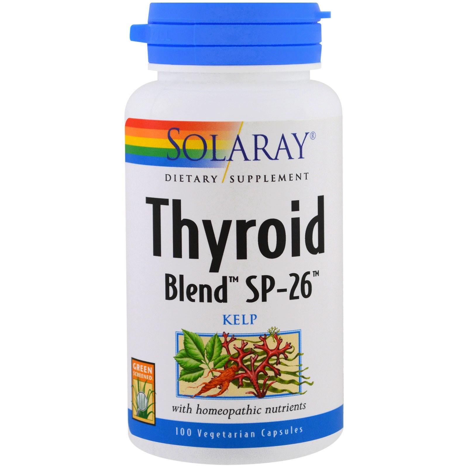 Solaray, Смесь для щитовидной железы SP-26, 100 капсул в растительной оболочке