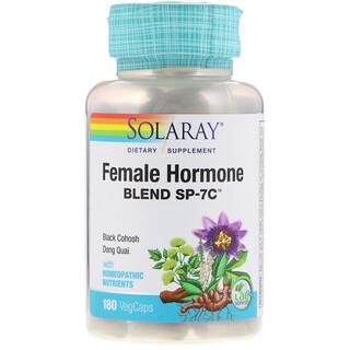 Solaray, Смесь женских гормонов SP-7С, 180 вегетарианских капсул