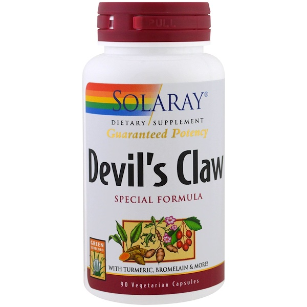 Solaray, Fórmula especial de garra del diablo, 90 cápsulas vegetales (Discontinued Item)