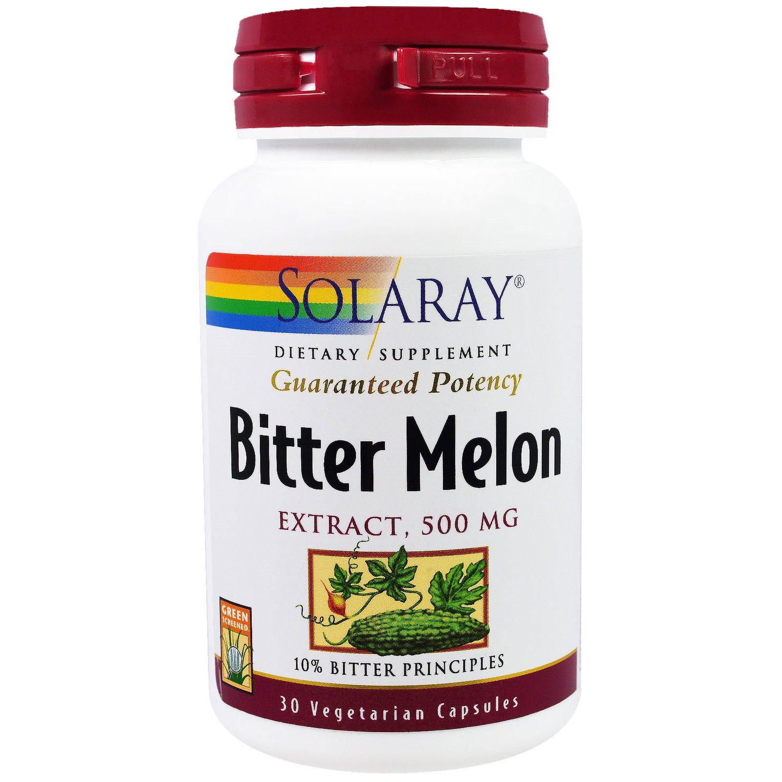 Solaray, Экстракт китайской горькой тыквы, 500 мг, 30 вегетарианских капсул