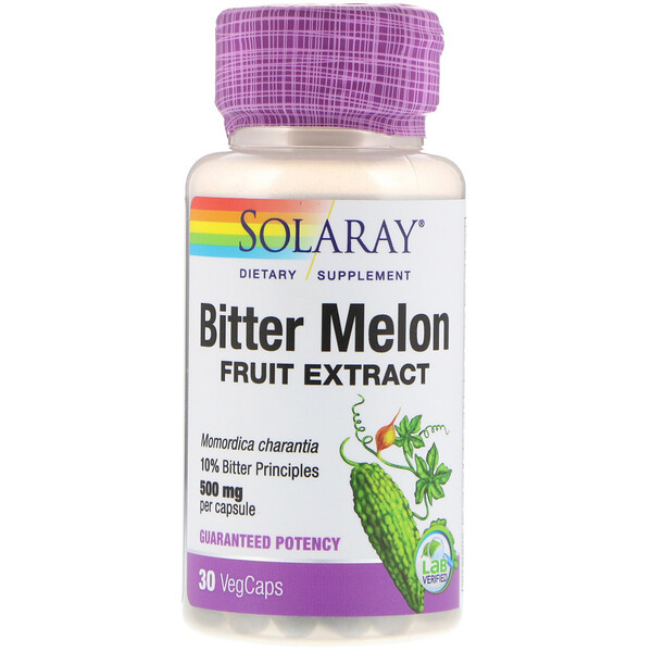 Solaray, Bitter Melon Fruit  Extract, 500 mg, 30 VegCaps