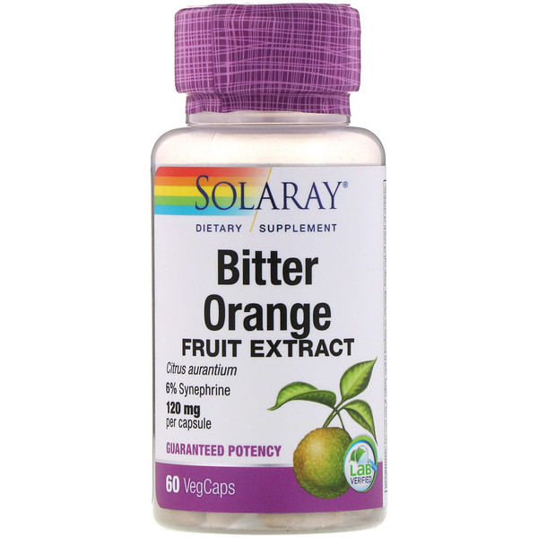 Solaray, Bitter Orange Fruit Extract, 120 mg, 60 VegCaps