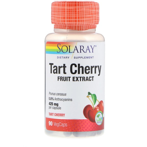 Solaray, Tart Cherry Fruit Extract, 425 mg, 90 VegCaps