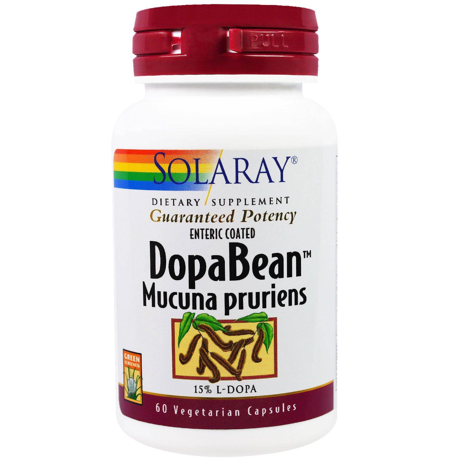 Solaray, DopaBean, мукуна жгучая, 60 вегетарианских капсул