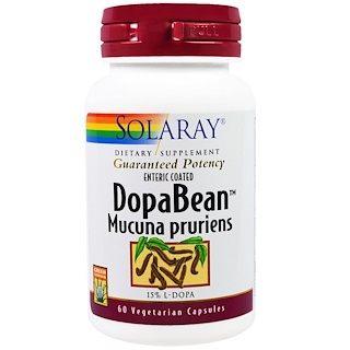 Solaray, DopaBean، فاصولياء مخملية، 60 كبسولة نباتية