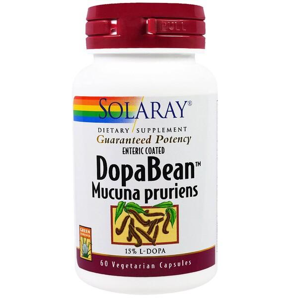 Solaray, DopaBean, Mucuna Pruriens, 60 Veggie Caps